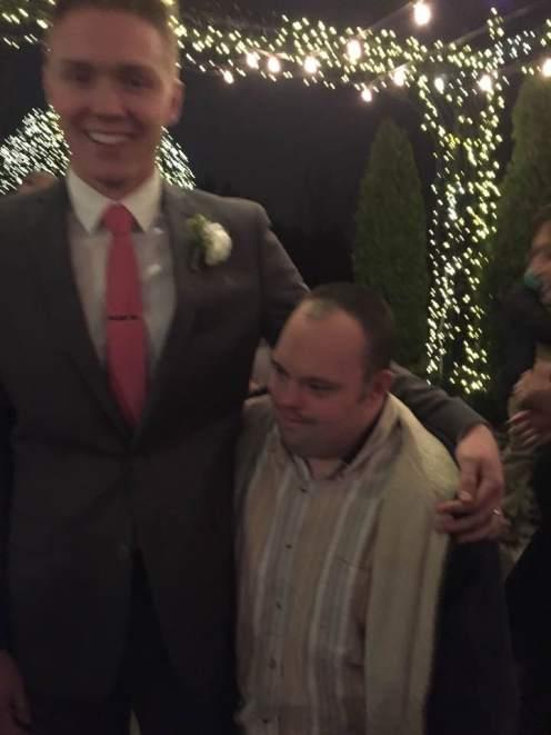 Dane and Brody. Dane's wedding. December 2016