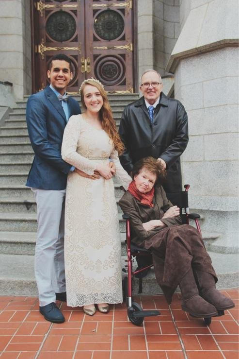 Filipe, Cai, Hank, and Ruth, on those same steps. January 16, 2015.